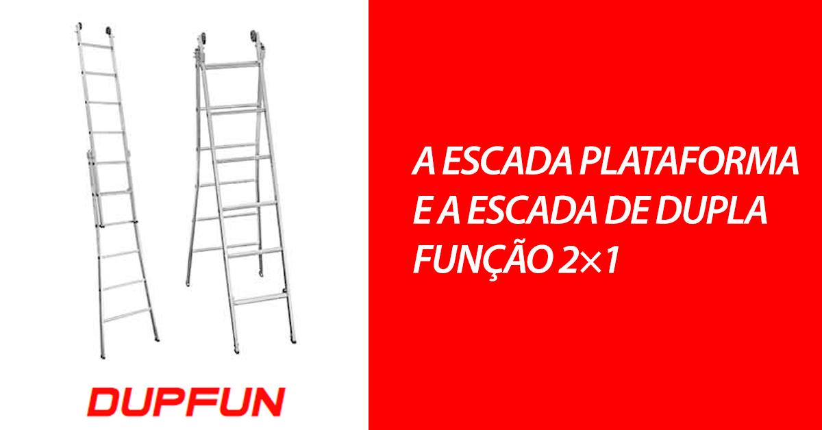 A escada plataforma e a escada de dupla função 2x1