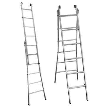 Escada dupla extensível