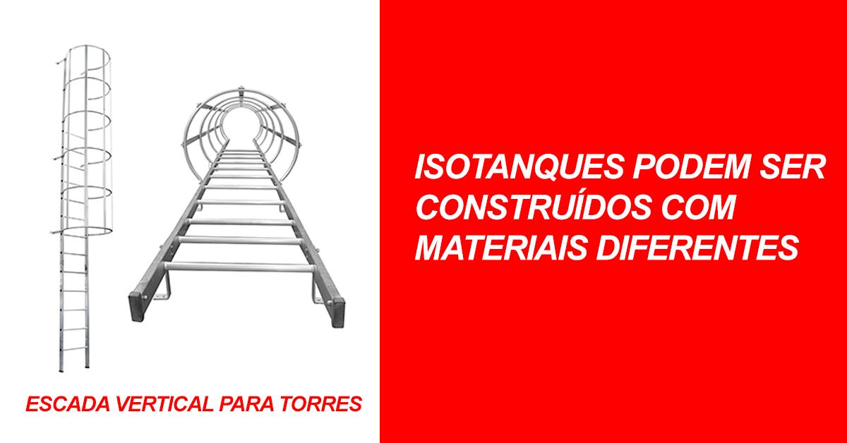 Isotanques podem ser construídos com materiais diferentes