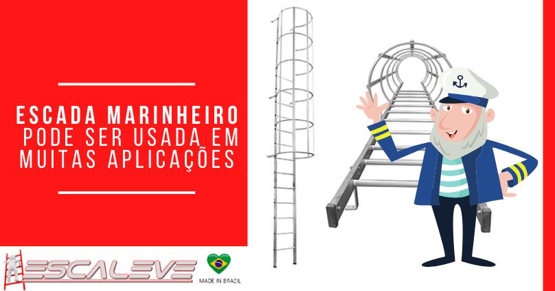 Escada Marinheiro pode ser usada em muitas aplicações