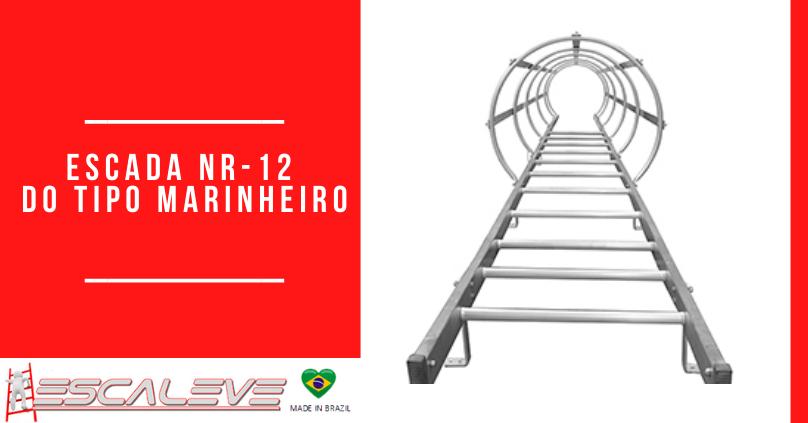 Escada NR-12 do tipo marinheiro