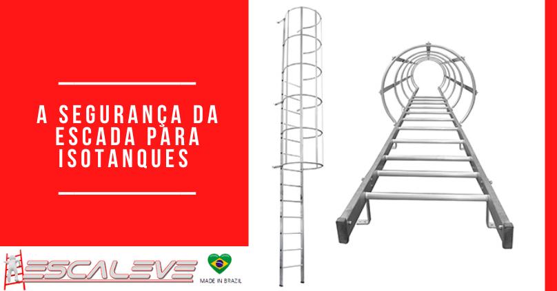 Escada para isotanques a número 1 em segurança