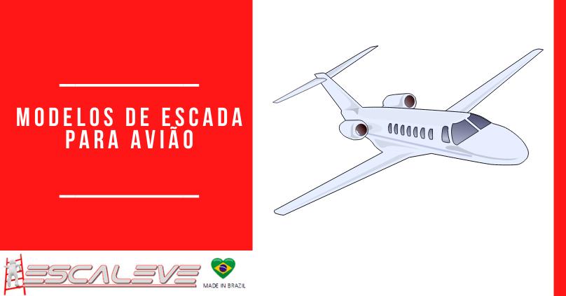 Modelos de escada para avião