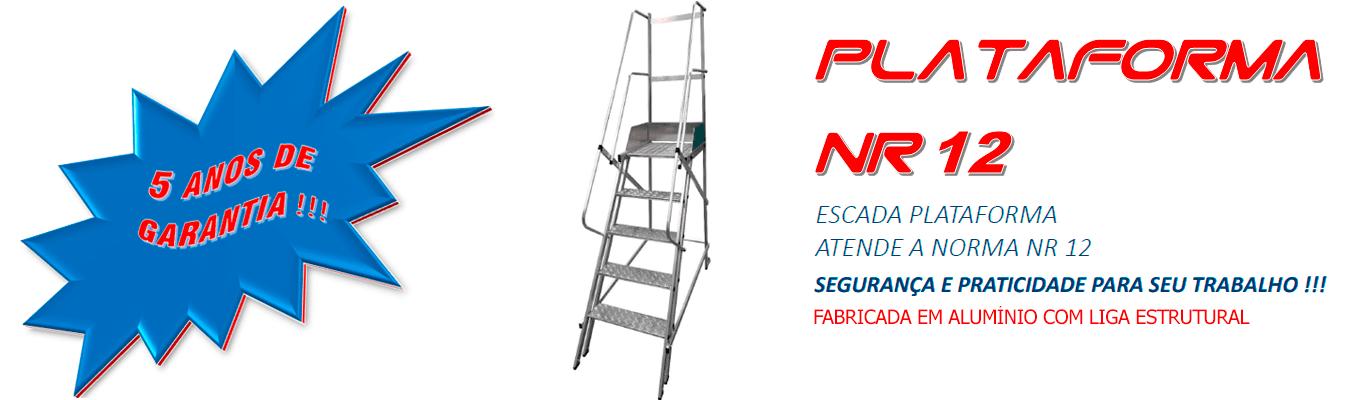 ESCADA PLATAFORMA - ATENDE A NORMA NR 12