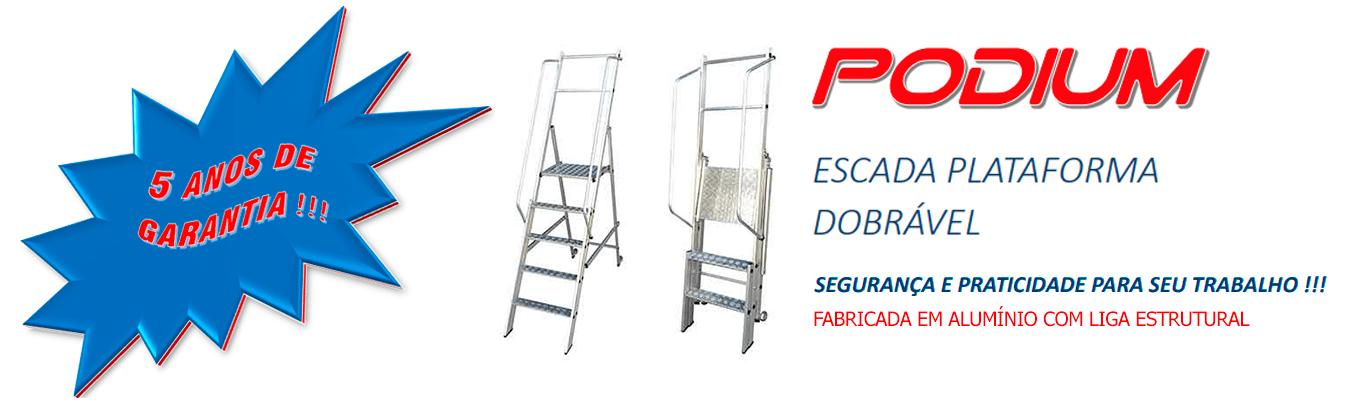 ESCADA PLATAFORMA DOBRÁVEL