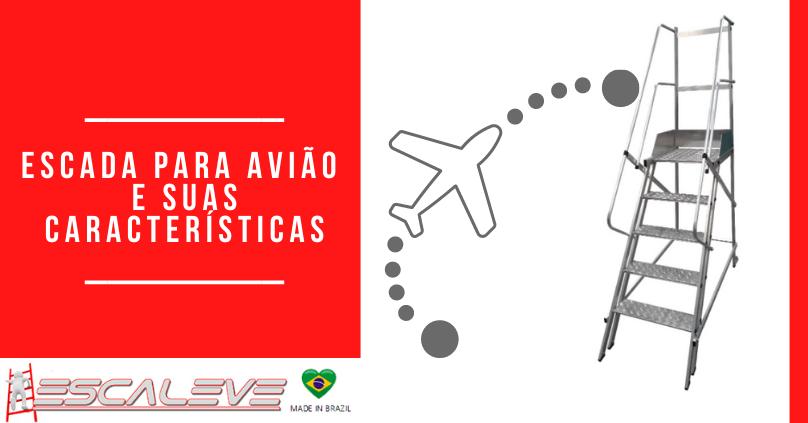 Escada para avião e suas caracteristicas